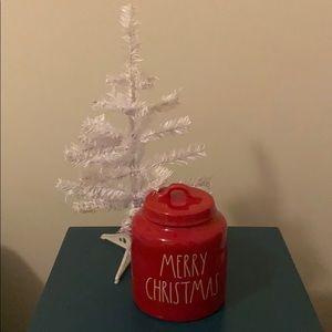 Rae Dunn MERRY CHRISTMAS Canister Cookie Jar